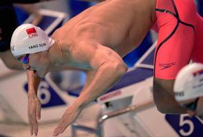 Swimming: China's Sun storms into world champs 400m final