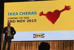 Ikea Cheras akan dibuka akhir November