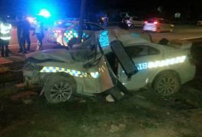 Polis peronda maut kemalangan di Lebuhraya DUKE