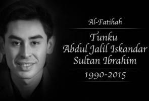 Tunku Abdul Jalil Sultan Ibrahim pulang ke Rahmatullah