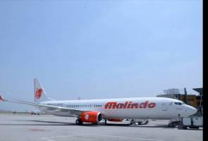 Pesawat Malindo Air tergelincir dari landasan ketika berlepas