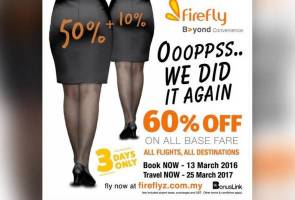 Firefly apologises over sexist ads | Astro Awani