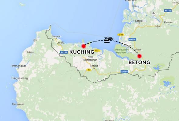 Helikopter dipercayai bawa orang kenamaan hilang di Sarawak