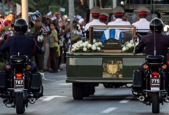 Mendiang Fidel Castro disemadi