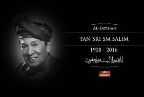 Seniman negara, SM Salim, 88 meninggal dunia