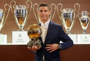 Cristiano Ronaldo raih Anugerah Ballon d'Or buat kali keempat