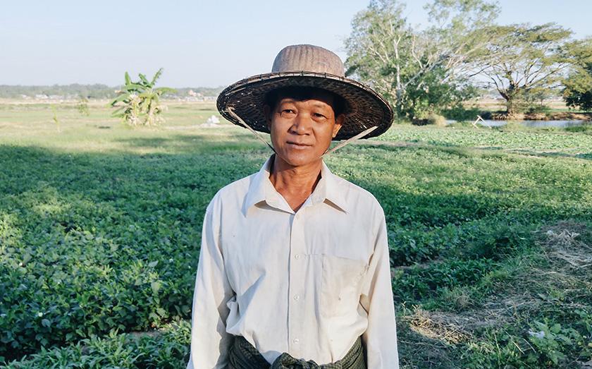 U Ko Aye is a 59-year-old farmer who was born and raised in Pathein. Karim Raslan Photo