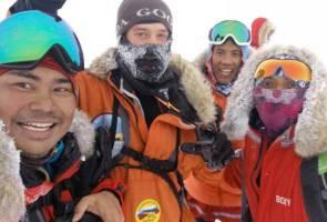 Tiga penjelajah Kutub Utara KE7B berjaya tamatkan ekspedisi lebih awal
