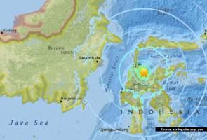 Gempa sederhana landa Semenanjung Minahassa di Sulawesi