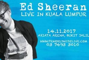 Tiket 'Ed Sheeran Live in KL' habis dijual dalam masa 30 minit