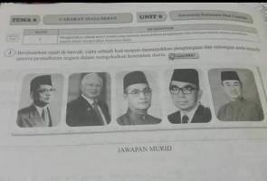 Isu gambar Tun Mahathir: Buku bukan terbitan Kementerian Pendidikan