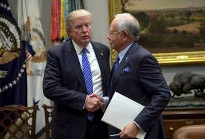 Image result for Najib and Trump at The White house