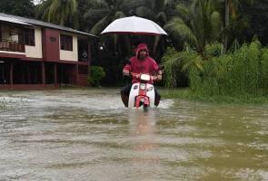 Hujan lebat, angin kencang sehingga esok di Pahang, Johor