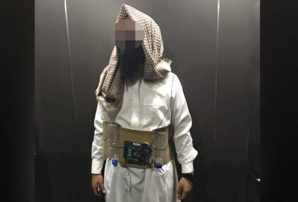 Lelaki berpakaian pengebom bunuh diri direman