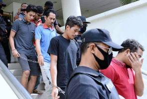 Six charged with being members of criminal group