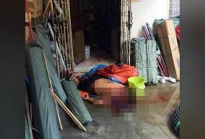 Tiga sekeluarga maut dibunuh menggunakan pisau, tukul
