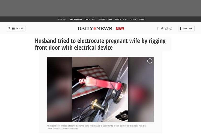 Menurut laporan NY Dailynews, suspek berbuat demikian kerana marah dengan tindakan isterinya yang memfailkan pemohonan cerai pada 6 Disember lalu.