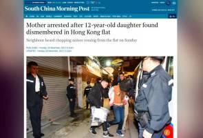Ibu bunuh, kerat anak sendiri sampai darah mengalir ke rumah jiran