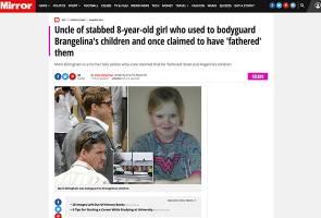 Bapa saudara kanak-kanak mati ditikam pernah jadi 'bodyguard' anak Brangelina