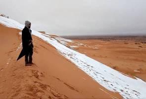 Terjadi lagi, lapisan salji di Gurun Sahara