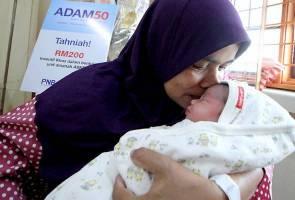 Ibu gembira anak lahir tahun baharu, terima ADAM50