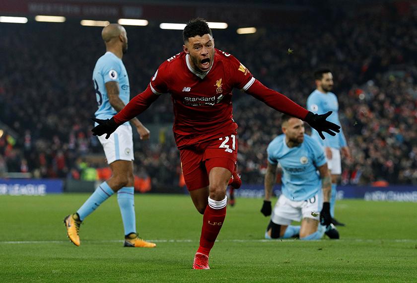 Alex-Oxlade Chamberlain menjaringkan gol pertama Liverpool menentang Manchester City semalam.