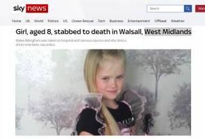 Kanak-kanak lapan tahun mati ditikam, teman lelaki ibu ditahan