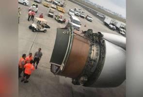 Detik cemas penumpang UA1175 apabila enjin pesawat 'berkecai' di udara
