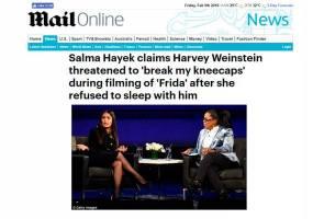 Harvey Weinstein ugut pecahkan 'kepala lutut' Salma Hayek jika tak tidur bersama