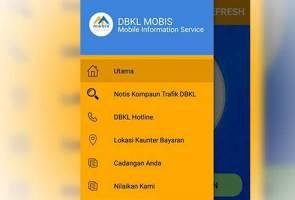 Semak, bayar kompaun trafik DBKL guna aplikasi 'DBKL Mobis'