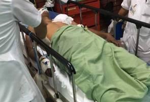 Konstabel polis cedera parah, tertembak mesingan sendiri