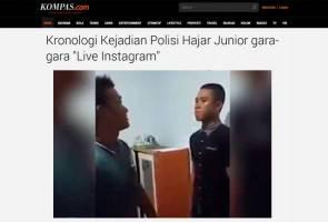 Hanya kerana tak sahut teguran senior di 'Live Instagram', kadet polis teruk dibelasah