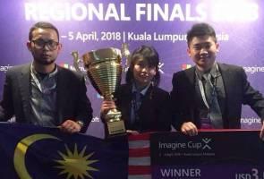 Cipta alat pengesan kualiti buah nanas, pasukan Malaysia juarai Imagine Cup Asia 2018