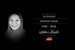 Veteran Umno Napsiah Omar meninggal dunia