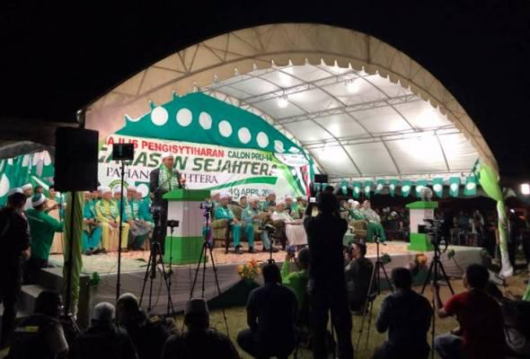 Pas mengumumkan 14 calon Parlimen dan 40 calon Dewan Undangan Negeri (DUN) bagi negeri Pahang menjelang Pilihan Raya Umum ke-14.