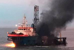 Dua cedera, seorang masih hilang kapal pengerudi terbakar di Miri