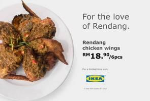 Ayam rendang 'crispy' kini dalam menu IKEA