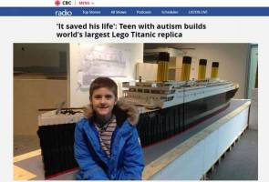 Kanak-kanak autistik hasilkan replika Titanic guna 56,000 Lego