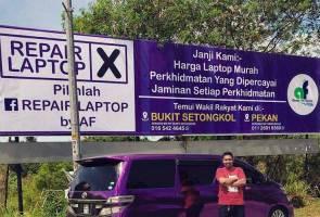 Idea kreatif 'billboard' ala poster PRU jadi perhatian