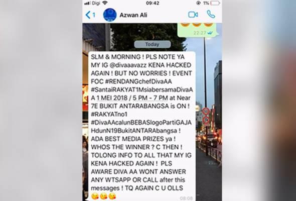 Instagram Diva AA digodam sekali lagi!