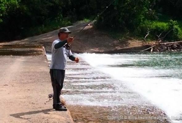 Pengunjung yang datang ke Kiulu untuk menikmati sendiri keseronokkan aktiviti pancing layang tidak akan pulang dengan tangan kosong.