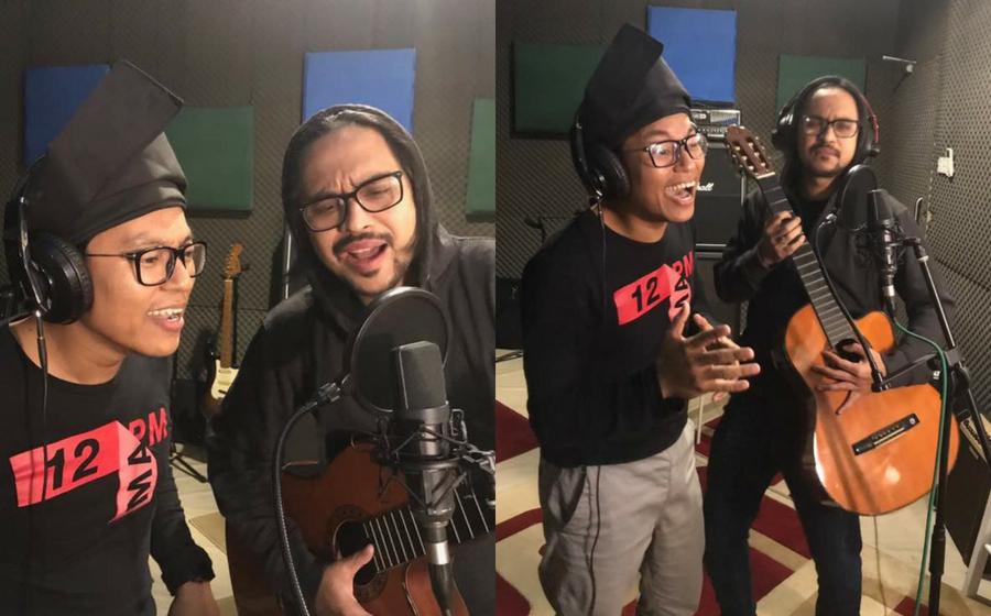 Mawi bersama Anas Tahir rakam lagu raya kisah puasa enam secara spontan