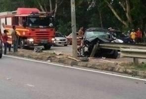 Guru maut, kereta rempuh pembahagi jalan