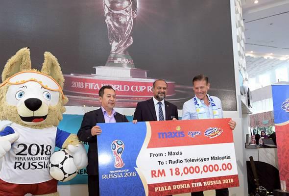 Kerajaan telah menerima sumbangan berjumlah RM30 juta yang membolehkannya membayar lansung hak penyiaran Piala Dunia 2018.