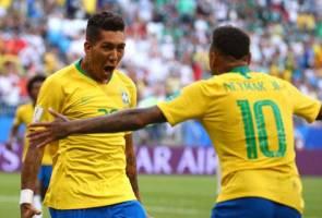 Neymar, Firmino pastikan kemaraan A Selecao