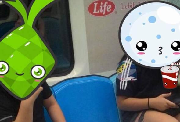 Dalam satu catatan Twitter itu, Prasarana memuat naik satu gambar dua pengguna bersama satu minuman coklat yang dilihat tumpah dalam tren.