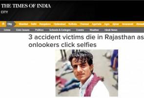 Sibuk berswafoto, mangsa kemalangan dibiar mati tengah jalan