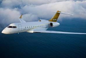 Sah! Jet peribadi mewah, Bombardier 5000 berada di Singapura