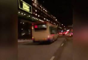 Bas rempuh tujuh kenderaan, pengguna Jalan Ampang saksi adegan mendebarkan