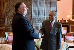 Setiausaha Negara Amerika Syarikat Pompeo kunjungi Dr Mahathir